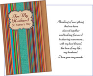 father's day husband greeting card 38019