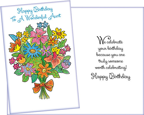 95452 six birthday aunt cards with six envelopes stockwell greetings aunt birthday greeting card m4hsunfo