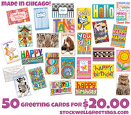 BIG DEAL. 50 cards, full retail value $137.50, your price $20.00 free ship