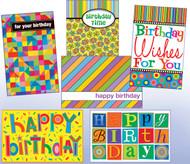 12 different designs of birthday general