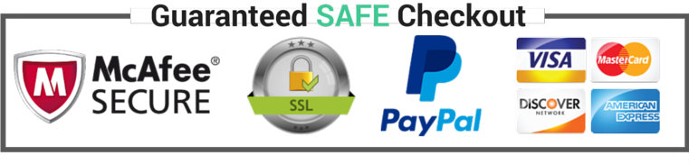 Guaranteed Safe Checkout Paypal And All Credit Cards Accepted