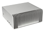 FC8 Silver Fanless PC (side view)