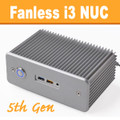 "Fanless Intel ""Broadwell"" NUC Core i3 PC, 4GB DDR3, 128GB SSD [D5NU1-i3]"