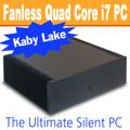 Ultimate Fanless Mini PC, i7 7700T Kaby Lake, Dual LAN, Displayport, HDMI, 8GB, 250GB SSD [ASUS H110T]