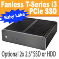 Fanless T-Series PC Core i3 7100T, 8GB,  256GB PCIe SSD [ASUS Q170T]