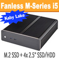 Fanless M-Series PC Core i5 7500T Kaby Lake, 8GB, 256GB PCIe SSD  [M-H170i-PRO]