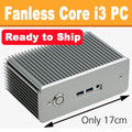 Fanless Intel NUC Core i3 PC, Dual Mini-Displayport, 4GB DDR3, 128GB SSD [Ready to Ship]