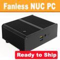 Fanless Pentium NUC PC, 4GB DDR3, 128GB SSD, Wifi, BT 4.2 [Ready to Ship]
