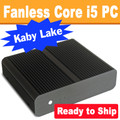 Fanless E-Series Mini PC Core i5 Kaby Lake, Displayport, HDMI, Dual LAN, 8GB, 250GB SSD [Ready to Ship]