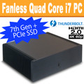 Ultimate Fanless PC, Core i7 7700T, 8GB DDR4, 256GB SSD, Thunderbolt 3, HDMI 2.0 [ASRock  Fatal1ty Z270]