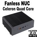 Fanless Quad Core Celeron J3455 NUC PC, 4GB DDR3, 128GB SSD [Newton-AC]