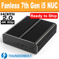 "Fanless ""Kaby Lake"" 7th Gen NUC Core i5 PC, 8GB DDR4, 256GB SSD [Ready to Ship]"