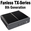 Fanless TX-Series 6-Core i7 8700T Mini PC, 8GB,  250GB 860 EVO SSD [ASUS H310T]