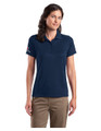 Associate SHORT Sleeve POLO - LADIES - Navy w/sleeve XEX logos