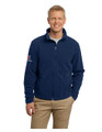 Men's Polar Fleece Jacket with X Exchange Logo - Navy