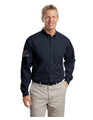 Associate LONG Sleeve TWILL Shirt - MENS - Navy w/sleeve XEX logos