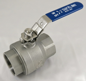Two Piece Threaded Ball Valve