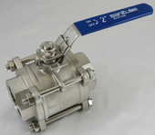 Three Piece Threaded Ball Valve