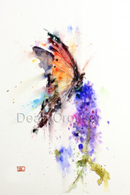 """MONARCH"" limited edition butterfly art from an original watercolor painting by Dean Crouser. This watercolor painting depicts one of Dean Crouser's loose and colorful butterflies landing atop a summer flower. in motion. Available in a variety of products including ceramic tiles and coasters, greeting cards, limited edition prints and more. L/E prints are signed and numbered by the artist and edition size limited to 400. Be sure to visit Dean's other hummingbird, bird, wildlife, and nature watercolor paintings."