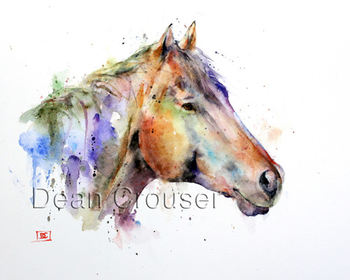 """Taking Ten"" horse art from an original watercolor painting by Dean Crouser. Available in a variety of products including giclee prints, ceramic tiles and coasters, greeting cards and more. Signed and numbered prints limited to edition size limited to 400 prints."