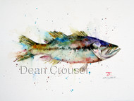 """LARGEMOUTH"" limited edition signed and numbered largemouth bass fish print from an original watercolor painting by Dean Crouser. Edition limited to 400 prints."
