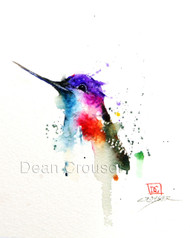 PHOEBE signed and numbered hummingbird print from an original watercolor painting by Dean Crouser. Edition limited to 400 prints.