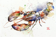 LOBSTER signed and numbered print from an original watercolor painting by Dean Crouser. This painting depicts a big ocean lobster in Dean's loose, colorful style. Edition limited to 400 prints. Be sure to check out Dean's other nature and wildlife watercolor paintings!