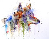 COYOTE signed and numbered limited edition print from an original watercolor painting by Dean Crouser. Edition limited to 400 prints. Please check out Dean's other wildlife and animal watercolor art!