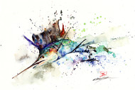 SAILFISH signed and numbered limited edition print from an original watercolor painting by Dean Crouser. Lots of color and movement in this one as Dean tried to capture the action and excitement of these great fish. Edition limited to 400 prints. Please check out Dean's other wildlife and fish watercolor art!