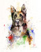 GERMAN SHEPHERD signed and numbered limited edition dog print from an original watercolor painting by Dean Crouser. Lots of color and movement in this one. Edition limited to 400 prints. Please check out Dean's other wildlife and nature watercolor art!