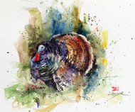 """WILD TURKEY"" original watercolor painting by Dean Crouser. Measures approximately 7-1/2"" tall by 9"" wide. here's a great opportunity to own a DC original! Artist retains all rights to future use of this painting."