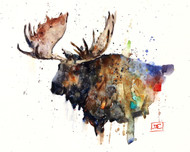"""NORTHERN BULL"" moose art from an original watercolor painting by Dean Crouser. Available in a variety of products including signed and numbered limited edition prints, ceramic tiles, greeting cards and more!"