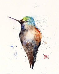 """JADE"" hummingbird art from an original watercolor painting by Dean Crouser. Available in a variety of products including signed and numbered limited edition prints, ceramic tiles, greeting cards and more!"