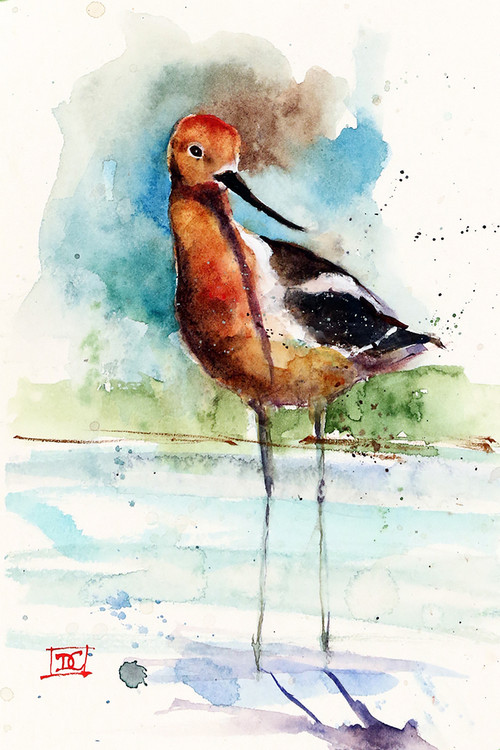 """""""SHOREBIRD"""" marine bird art from an original painting by Dean Crouser. Available in giclee' prints, ceramic tiles and coasters, greeting cards and more. Prints are limited edition and signed and numbered. Edition limited to 400."""