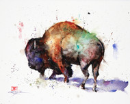 """BISON, Sketch"" original watercolor painting by Dean Crouser. This original buffalo painting measures approximately 10-1/2"" wide by 8-1/4"" tall. Here's a great opportunity to own a DC original! Artist retains any and all rights to future use of this image. Thanks for looking!"
