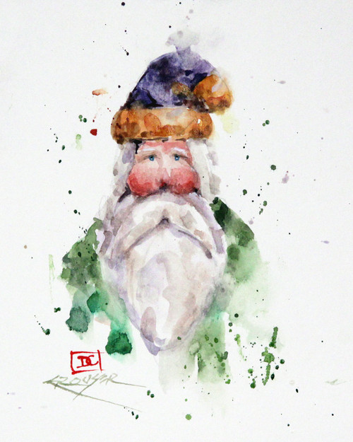"""""""Saint Nick"""" holiday art from one of Dean's original watercolor paintings. Available in a variety of products including limited edition signed and numbered prints, ceramic tiles and coasters greeting cards and more."""