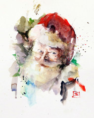 """SANTA"" holiday art from one of Dean's original watercolor paintings. Available in a variety of products including limited edition signed and numbered prints, ceramic tiles and coasters greeting cards and more."