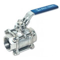 "1/2"" Full Port 3-Piece Stainless Ball Valve"