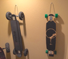 hang my longboard skateboard