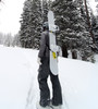 snowboard quick strap backpack carrying system