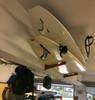 wood surfboard display rack