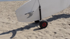 paddleboard cart travel over sand