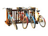 freestanding wood bike rack