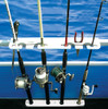 pontoon boat fishing rack