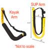 Customizable SUP and Kayak Freestanding Rack   Outdoor Storage for 6 Kayaks & SUPs