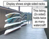 stainless steel dock rack for kayaks