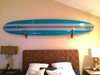 wood home surfboard storage rack