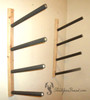 multi level wood snowboard rack
