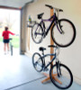 freestanding bike rack | american red oak