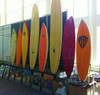 awesome freestanding stand up paddleboard rack for trade shows